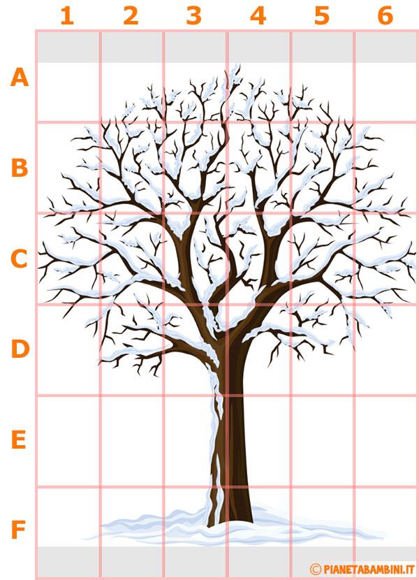 Schema per la costruzione dell'albero murale innevato
