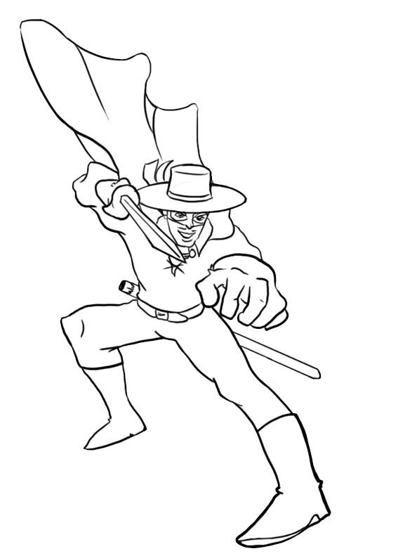 12 Disegni Di Zorro Da Colorare Pianetabambini It