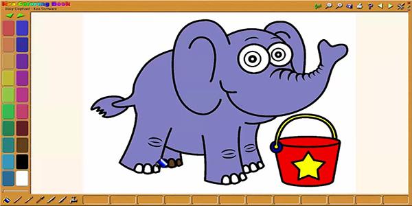 disegni da colorare al computer per bambini