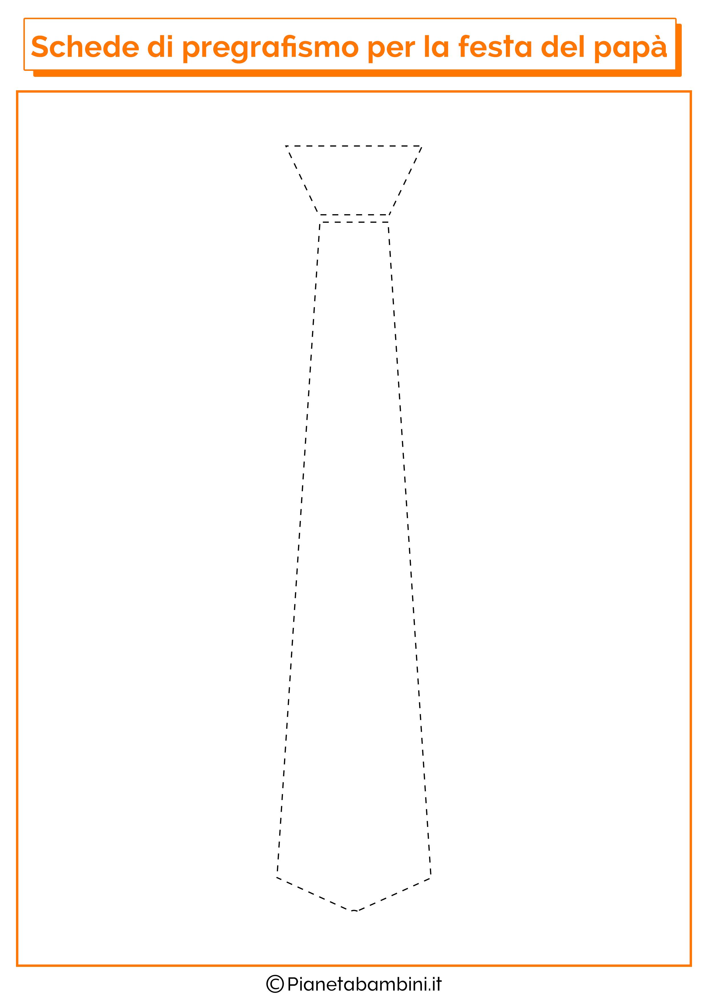 Scheda di pregrafismo sulla cravatta per la festa del papà