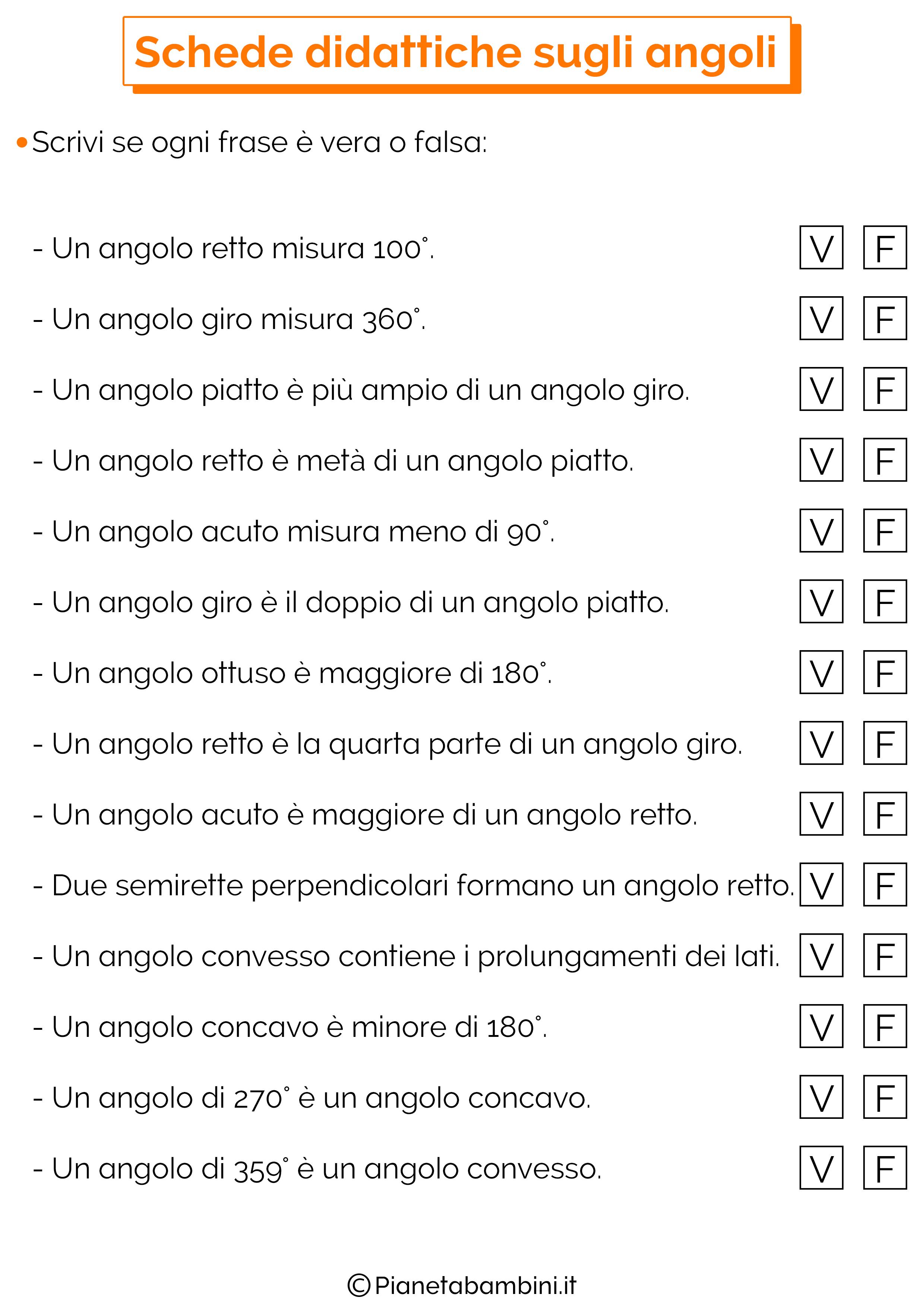 Schede Didattiche sugli Angoli per la Scuola Primaria ...