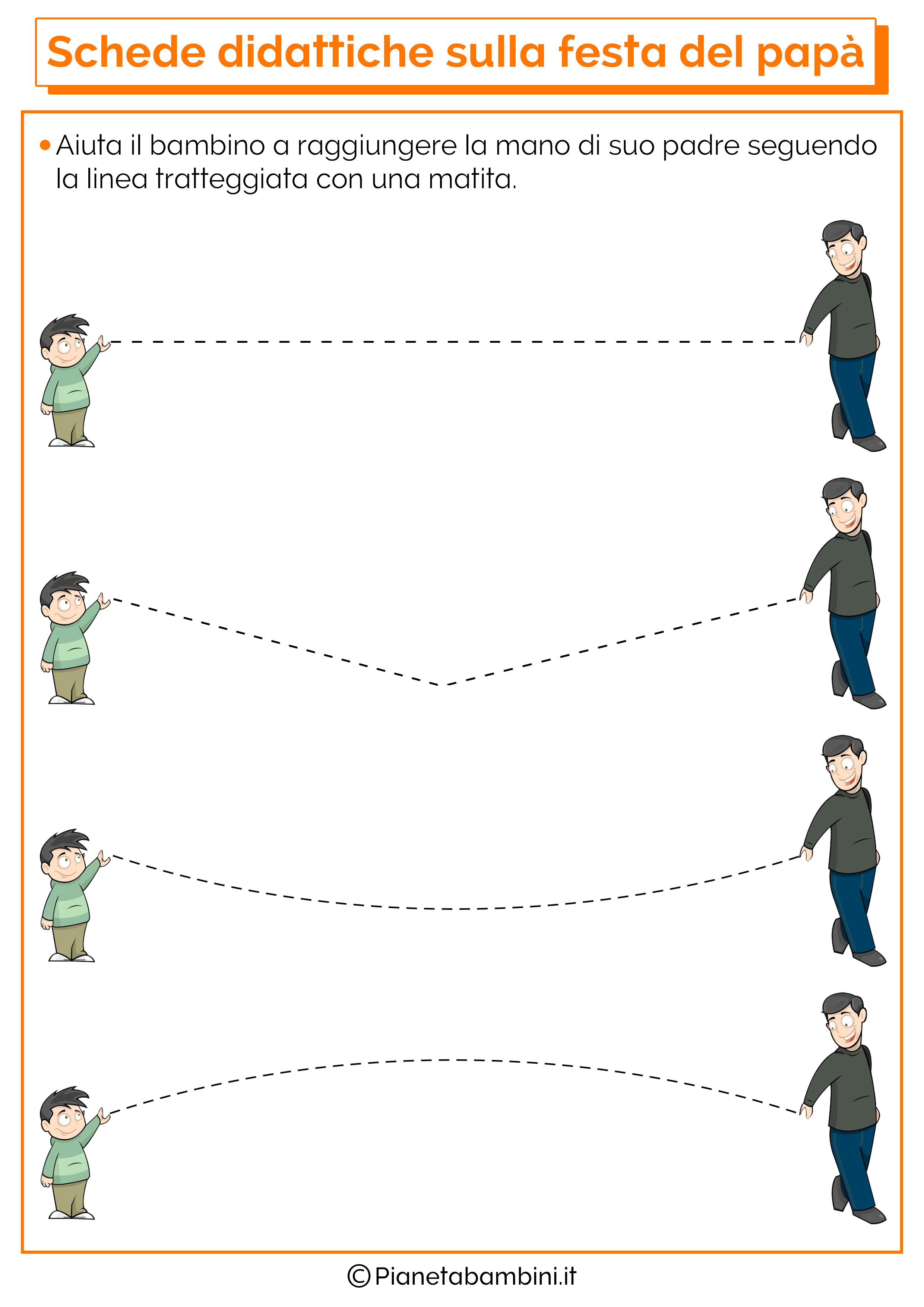 Schede didattiche sulla festa del papà per la scuola dell