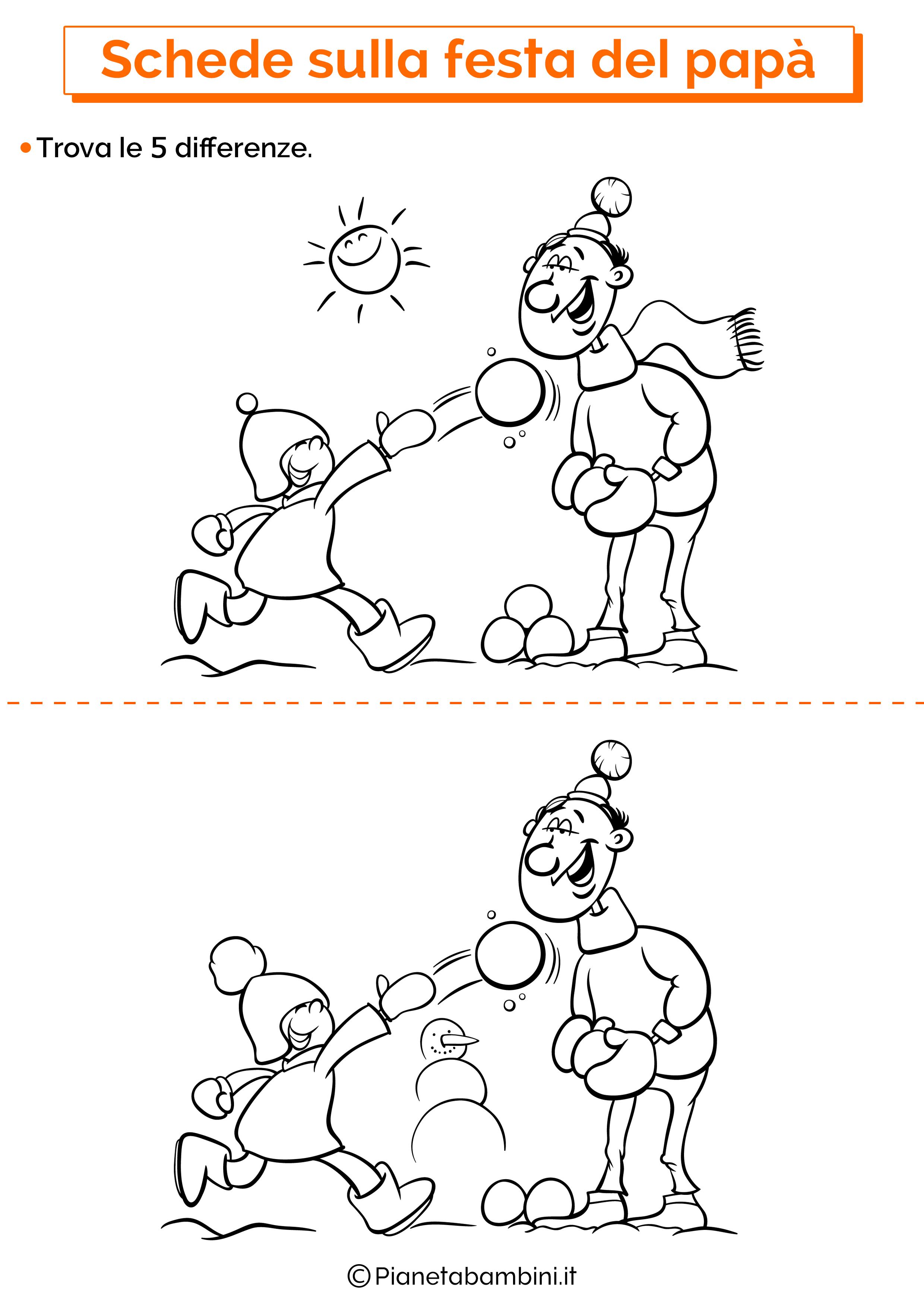Scheda sulla festa del papà per la scuola dell'infanzia 3