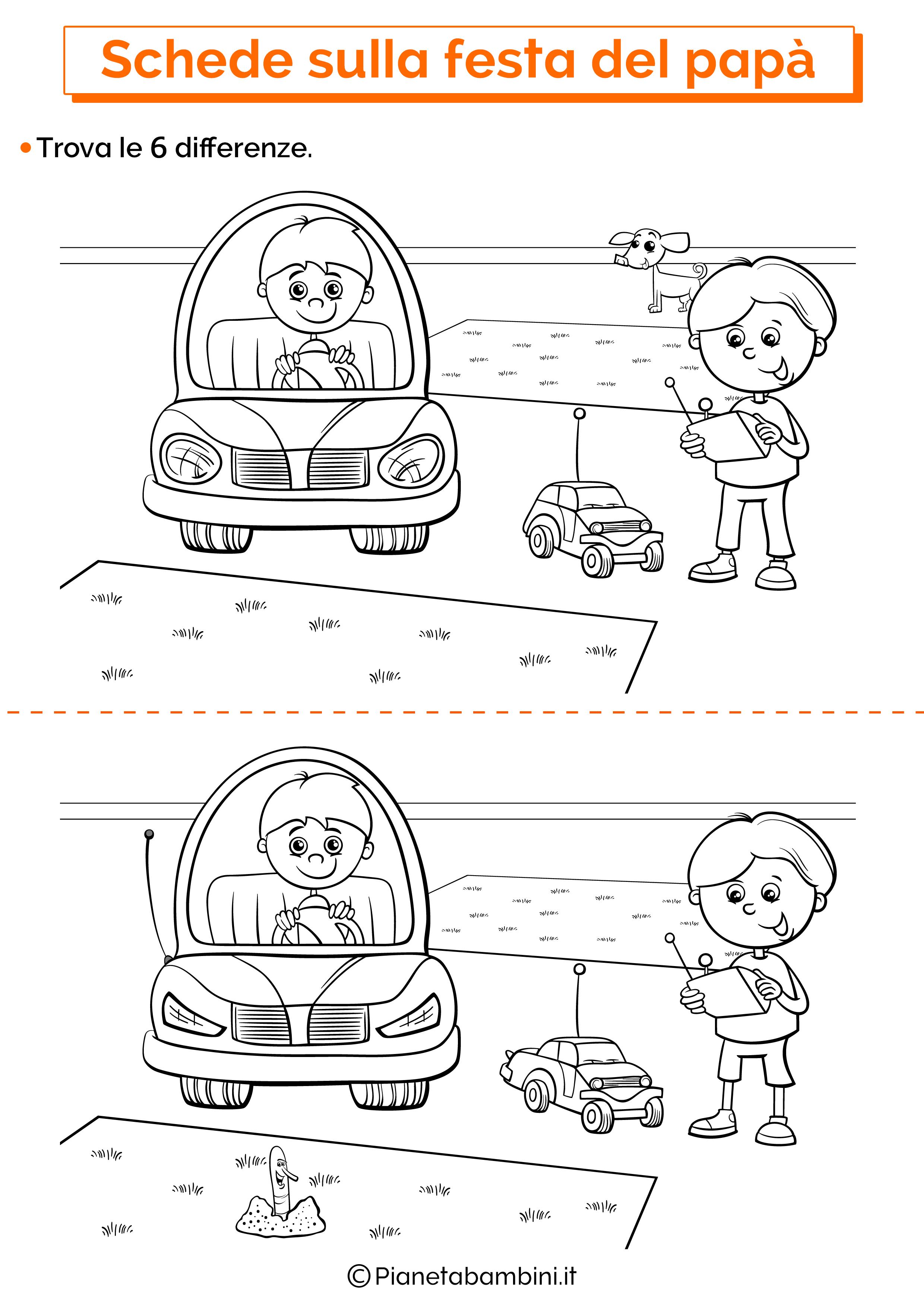 Scheda sulla festa del papà per la scuola dell'infanzia 4