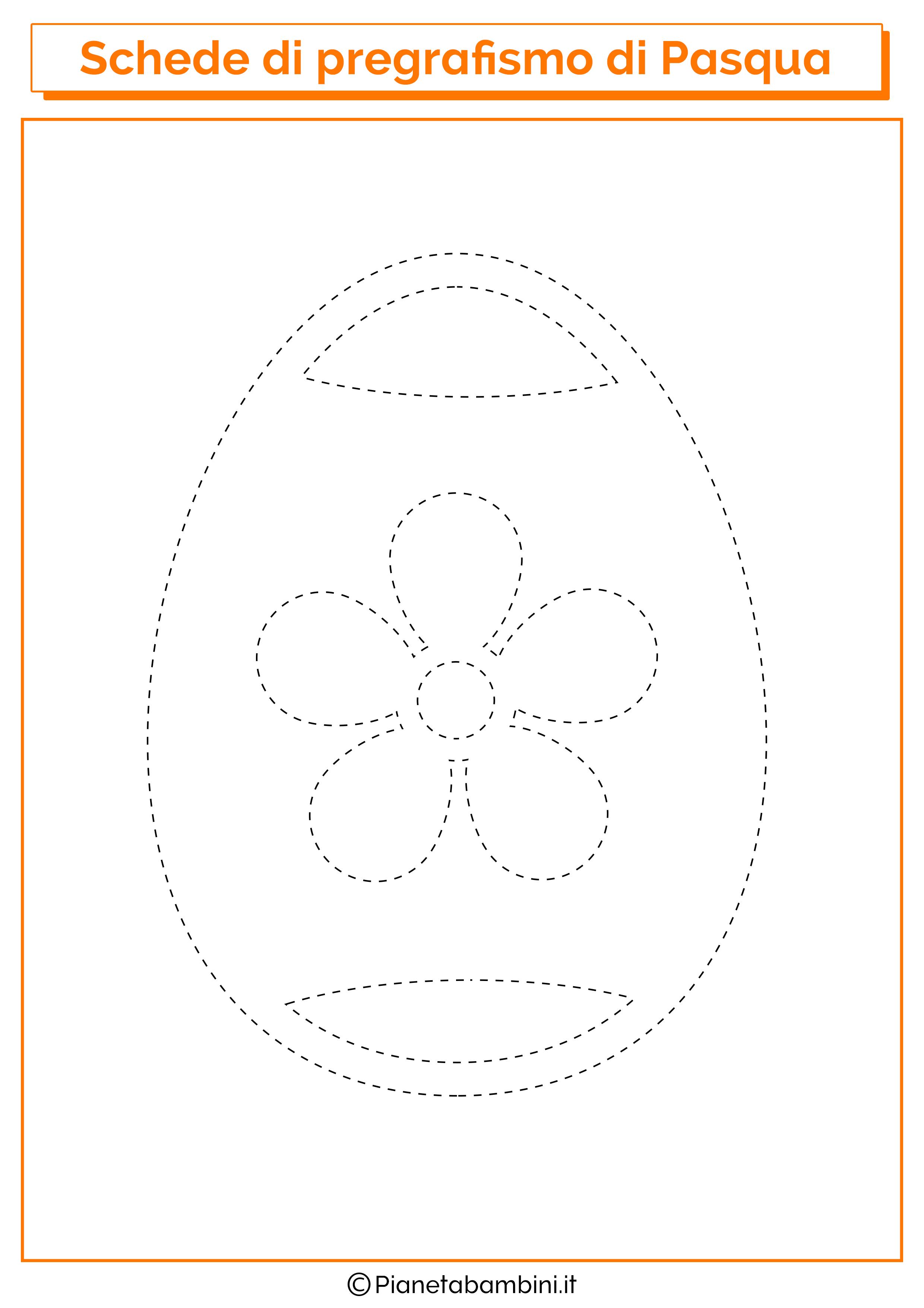 Scheda di pregrafismo sull'uovo di Pasqua decorato