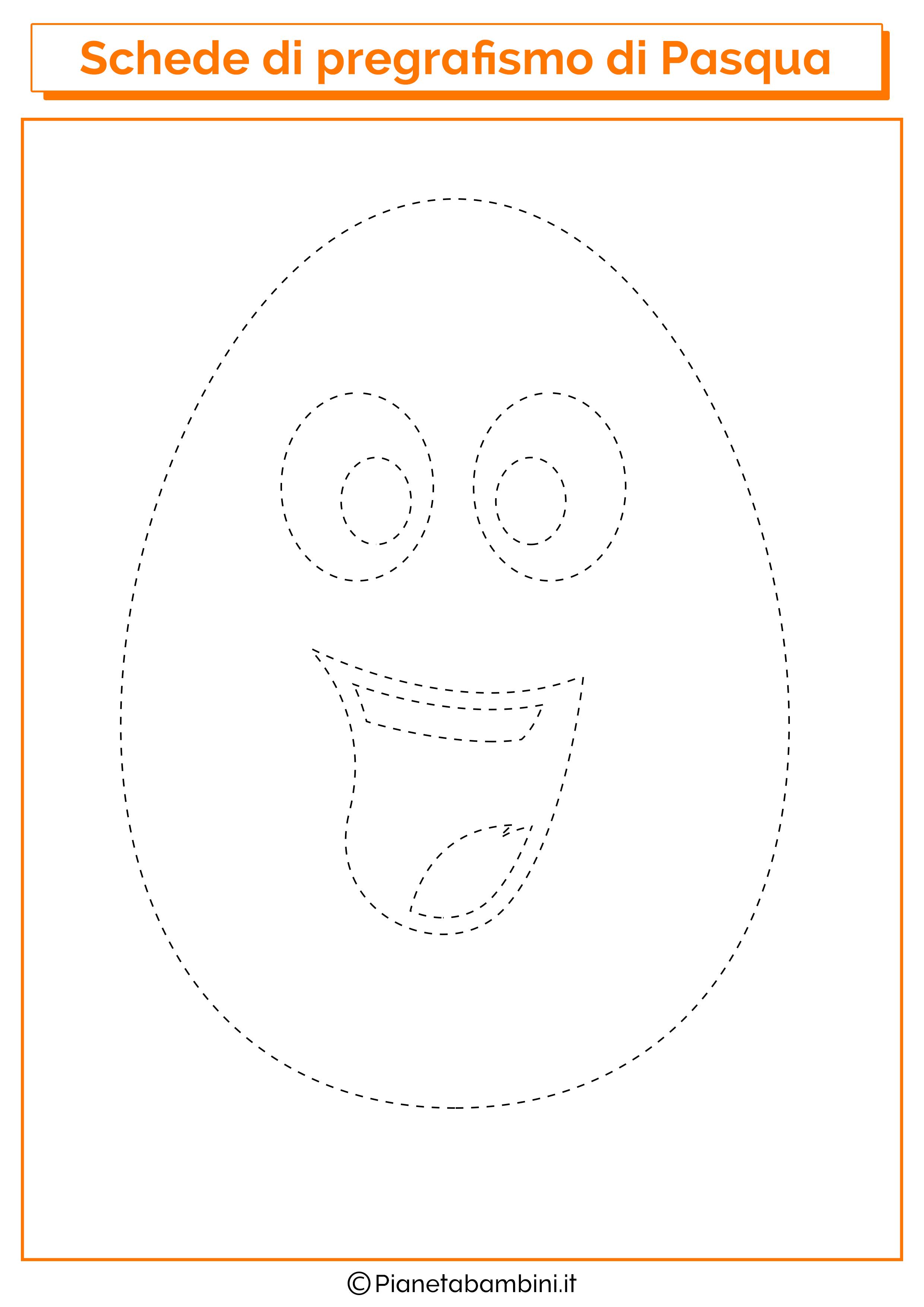 Scheda di pregrafismo di Pasqua sull'uovo sorridente
