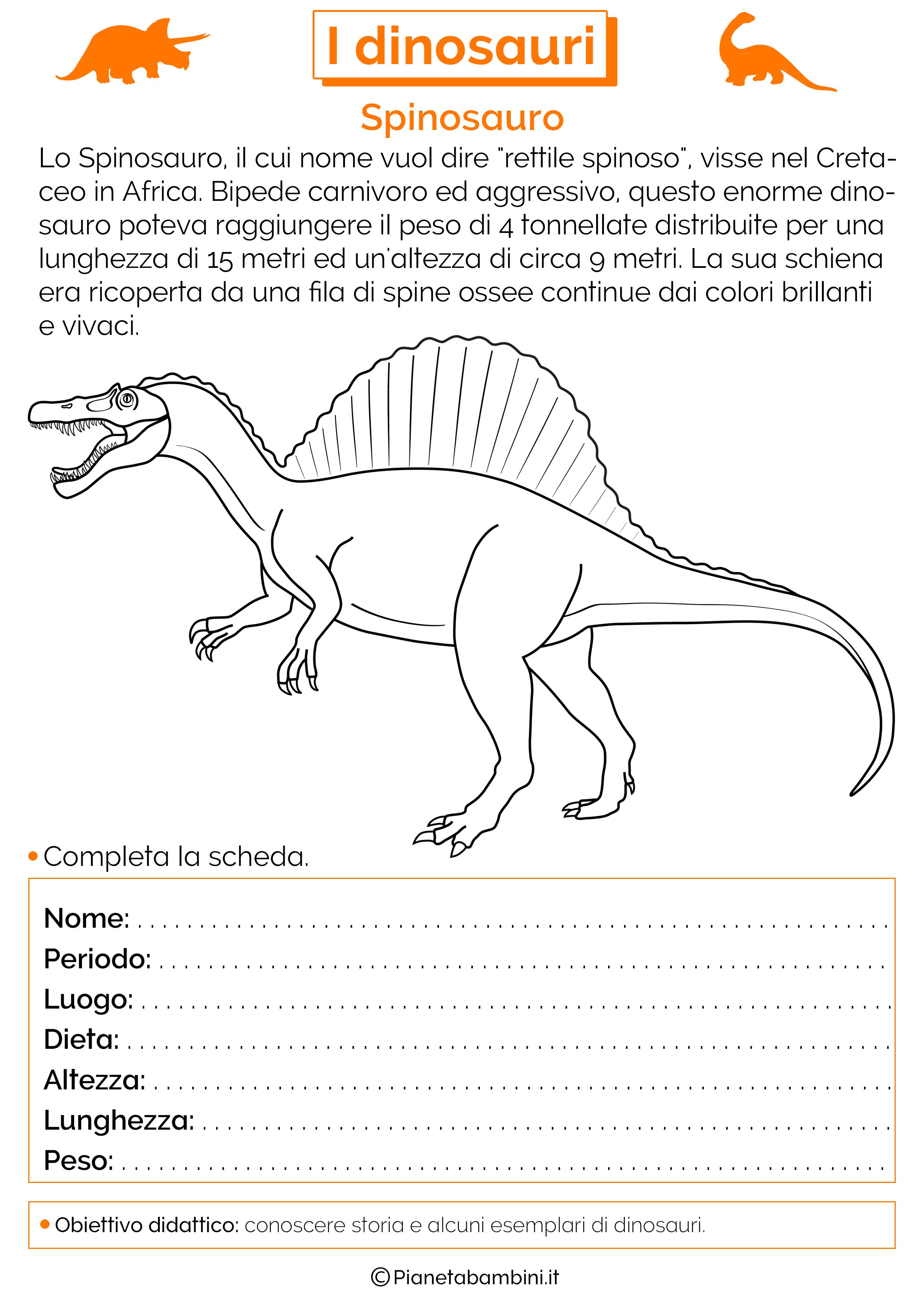 Esercizi sui dinosauri 08