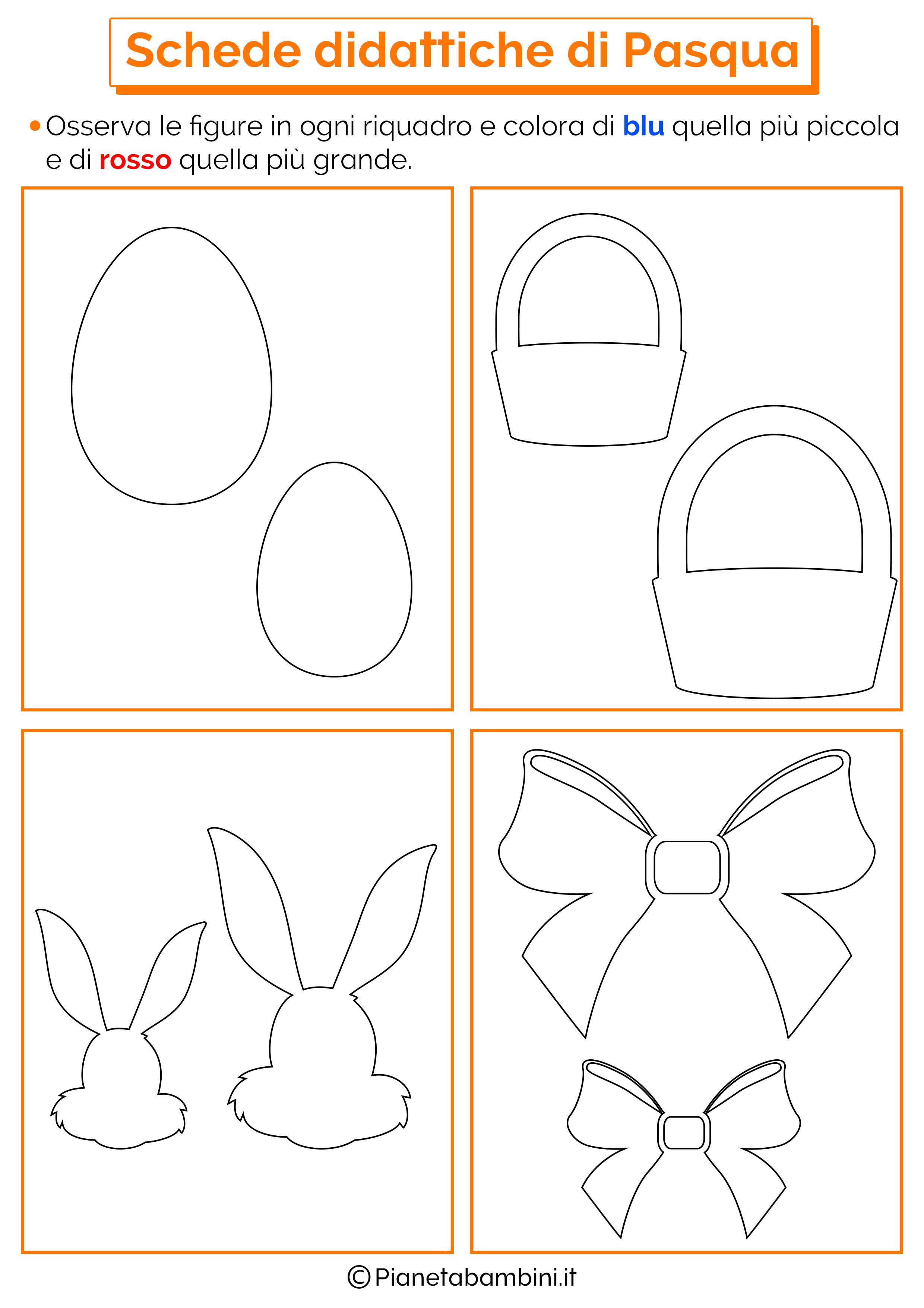 Molto Schede Didattiche di Pasqua per la Scuola dell'Infanzia  XT83