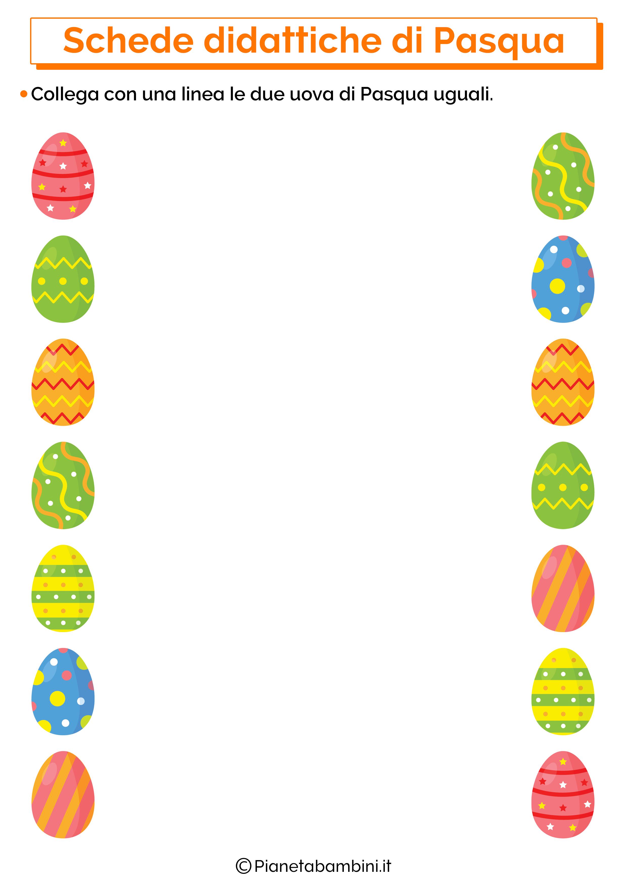 Scheda didattica di Pasqua per la scuola dell'infanzia 11