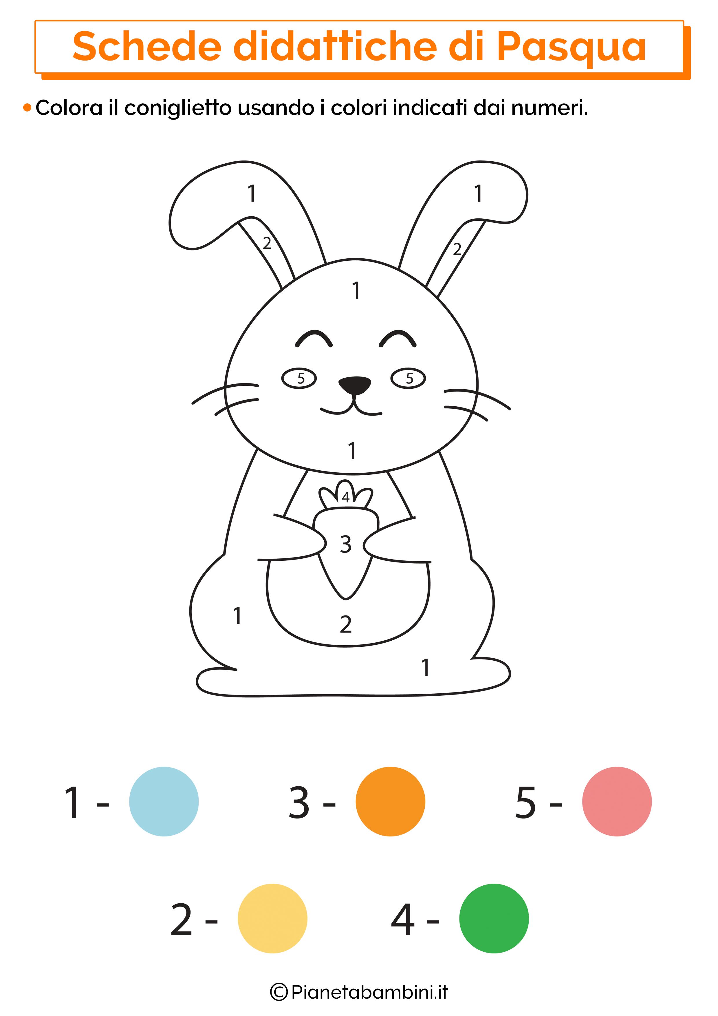Scheda didattica di Pasqua per la scuola dell'infanzia 14