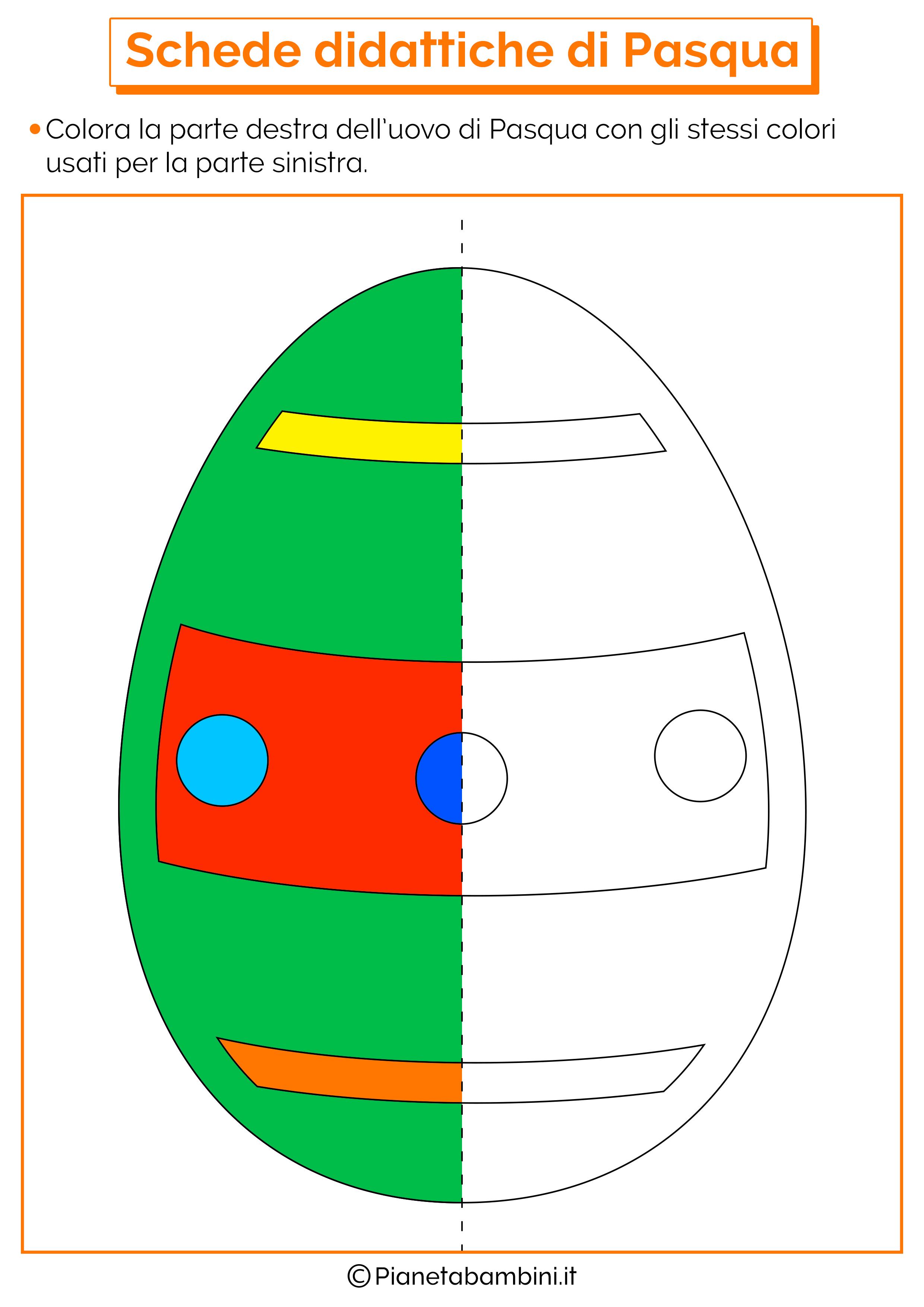 Scheda didattica di Pasqua per la scuola dell'infanzia 4