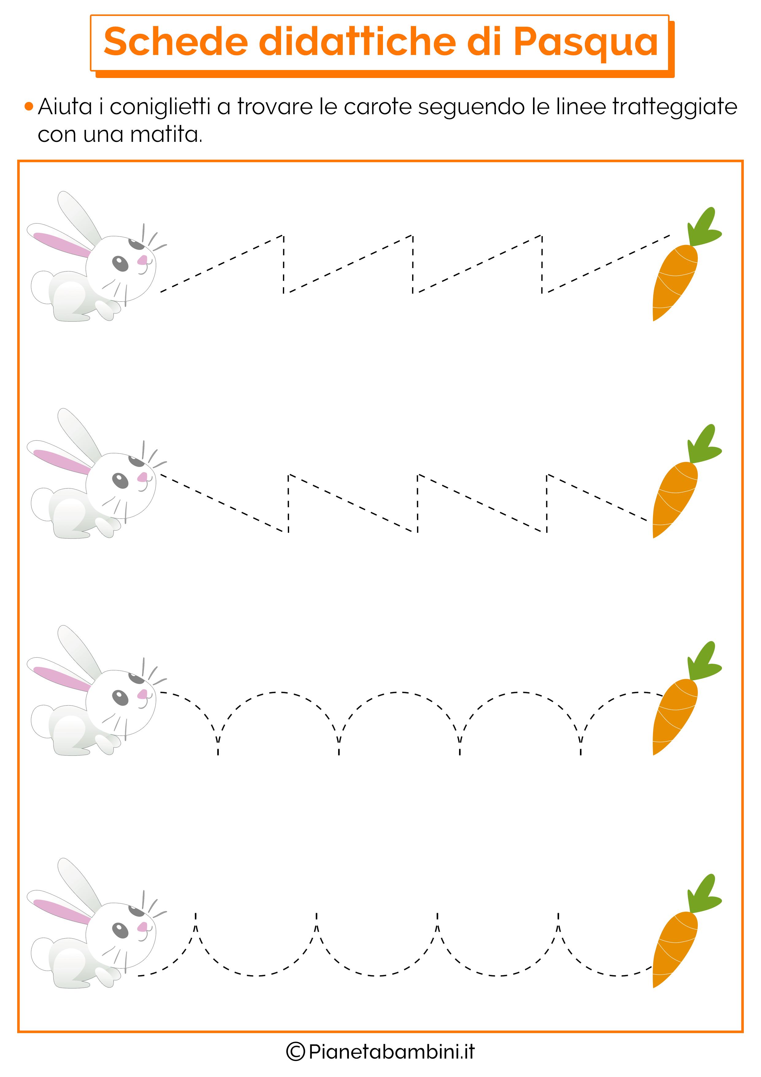Scheda didattica di Pasqua per la scuola dell'infanzia 5