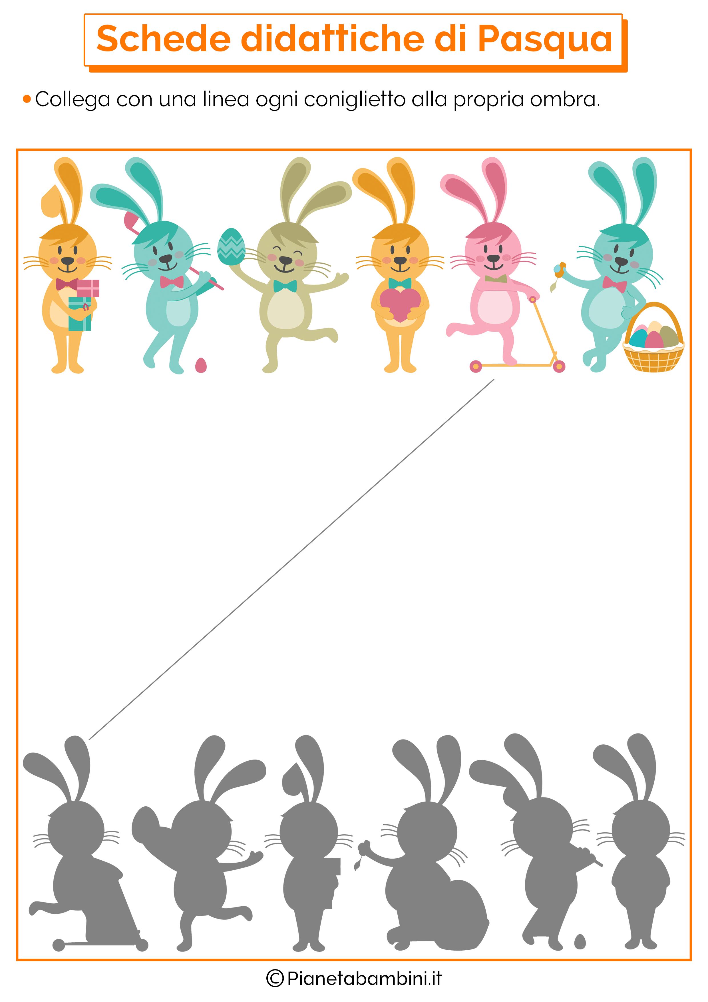Scheda didattica di Pasqua per la scuola dell'infanzia 8
