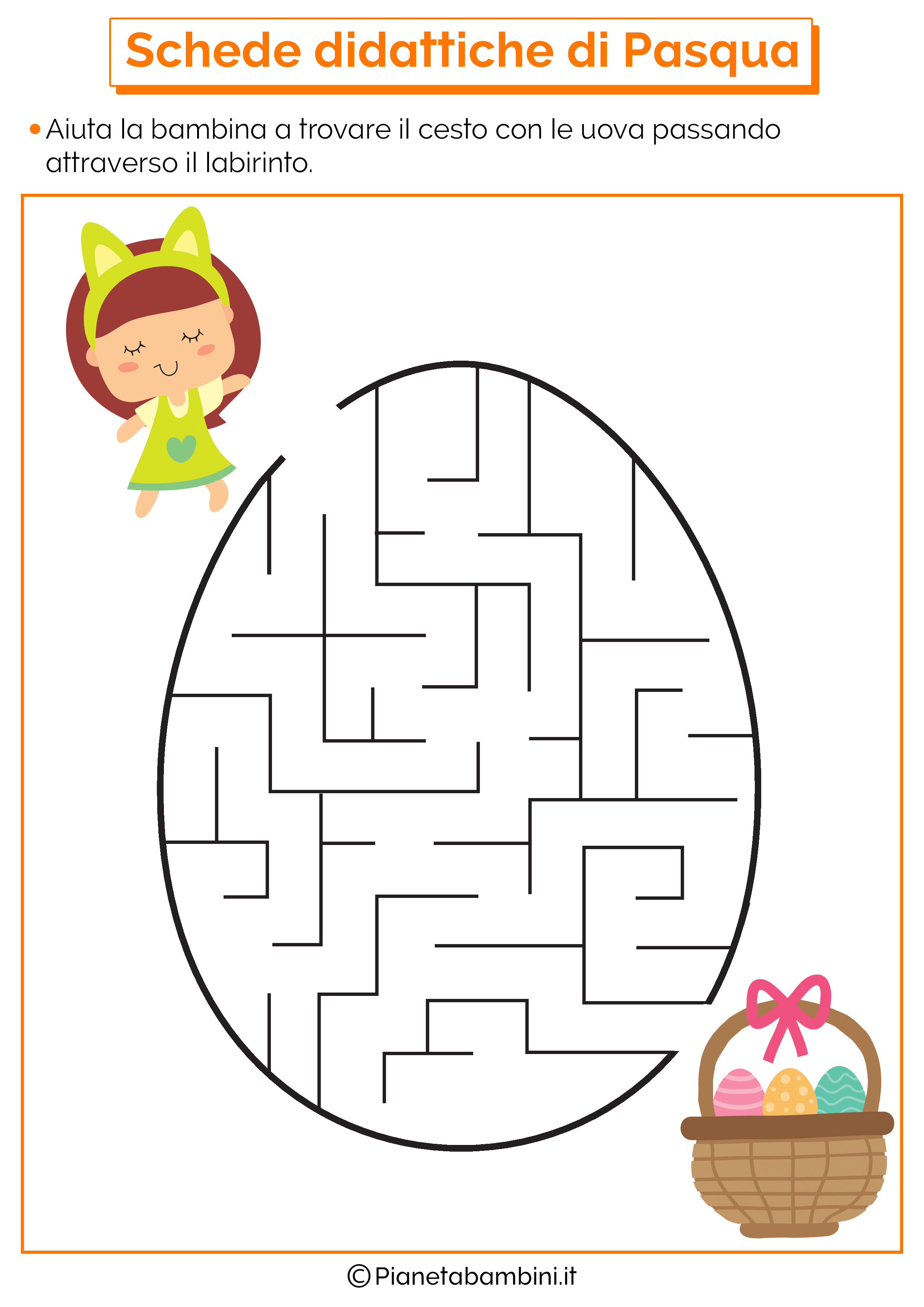Scheda didattica di Pasqua per la scuola dell'infanzia 9