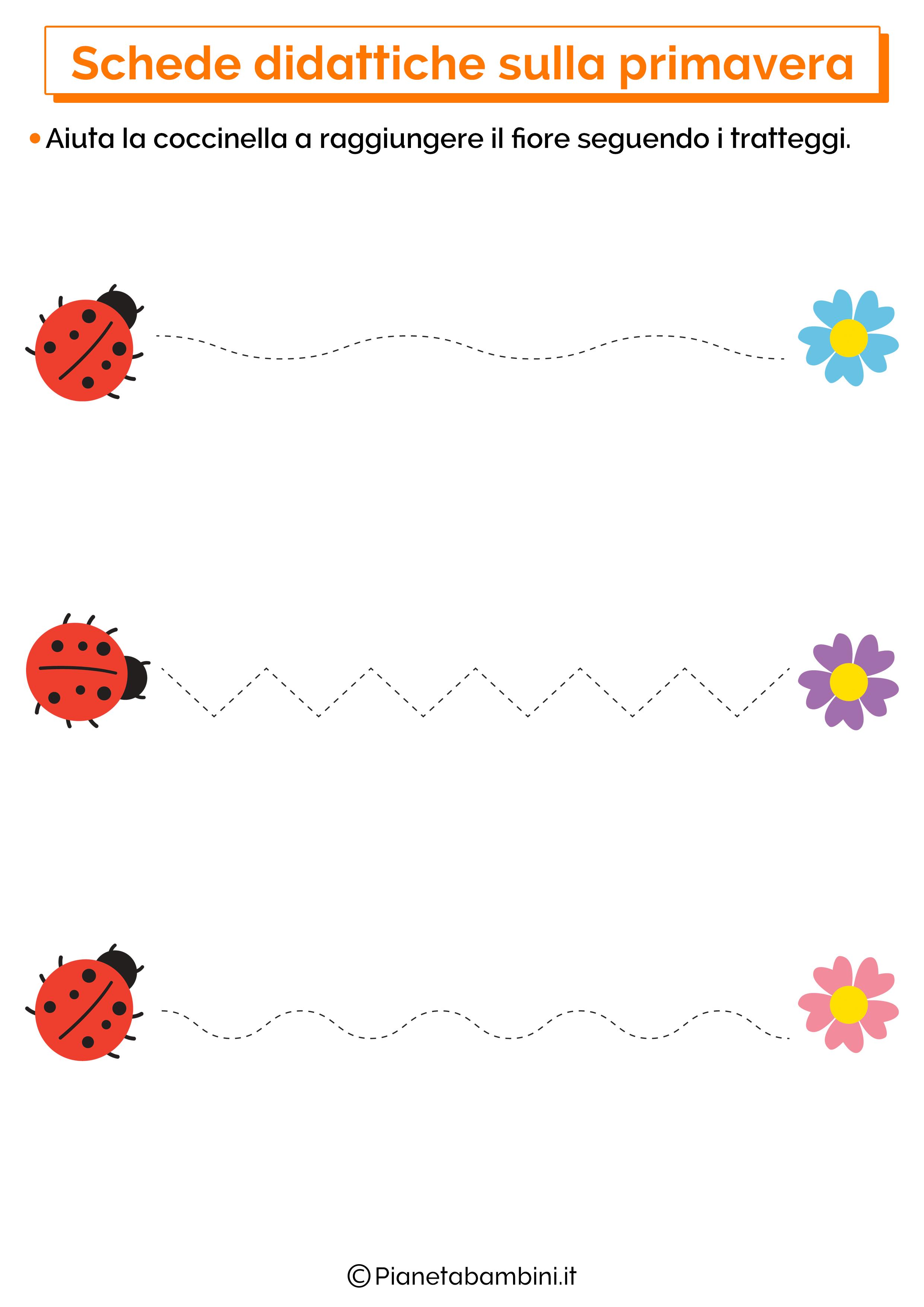 Scheda didattica sulla primavera per la scuola dell'infanzia numero 10