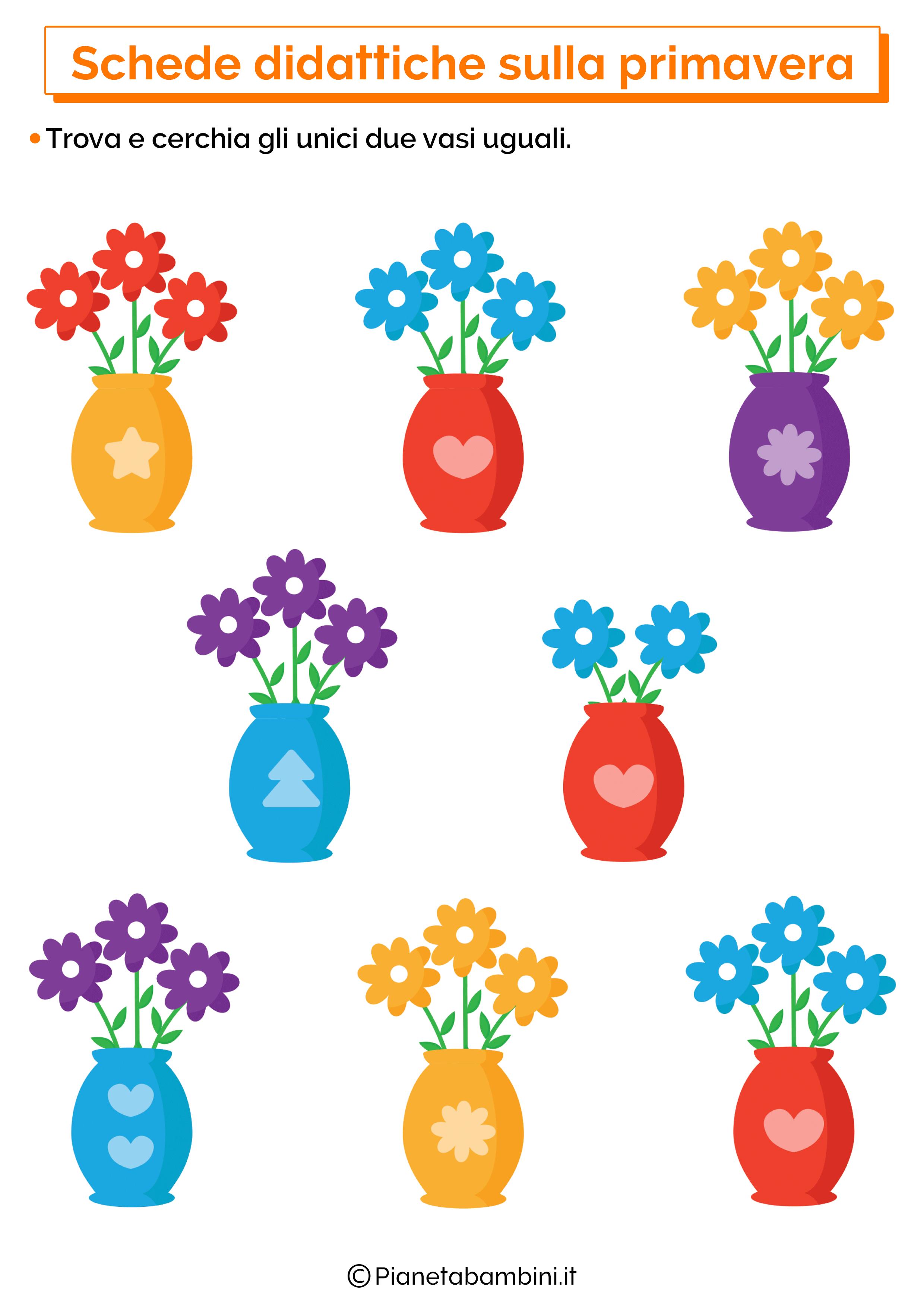 Scheda didattica sulla primavera per la scuola dell'infanzia numero 13