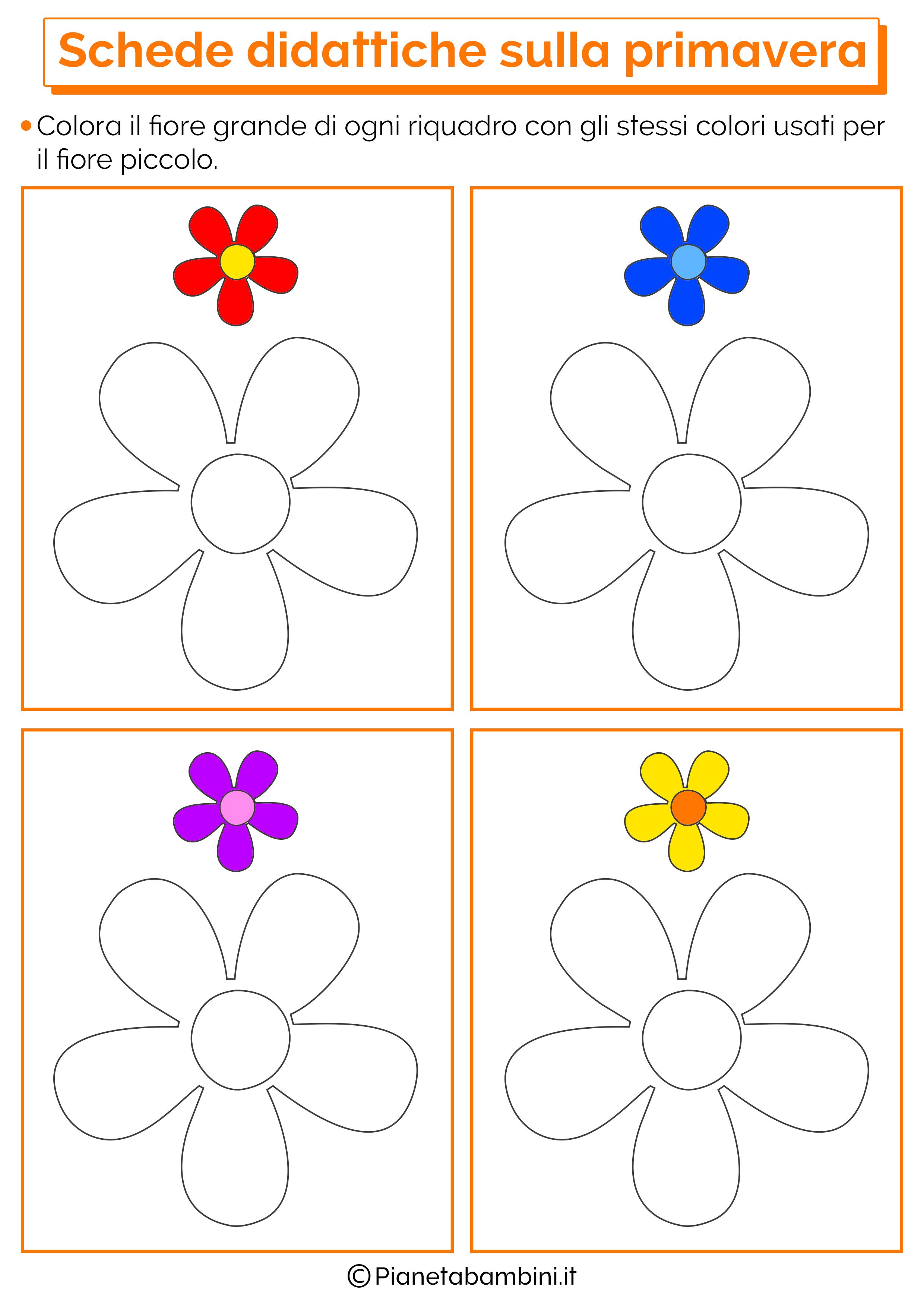 Scheda didattica sulla primavera per la scuola dell'infanzia numero 3