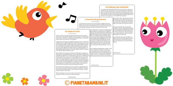 Testi di primavera da stampare gratis per la scuola primaria