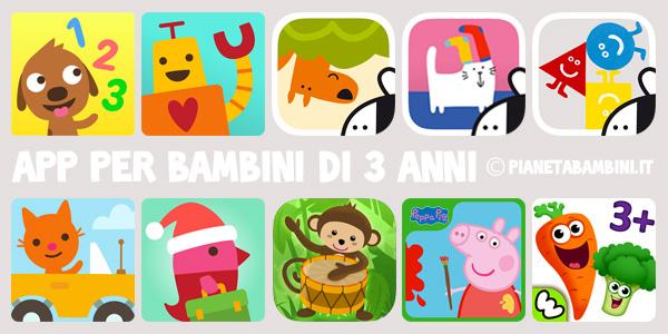 App per bambini di 3 anni per tablet e smartphone