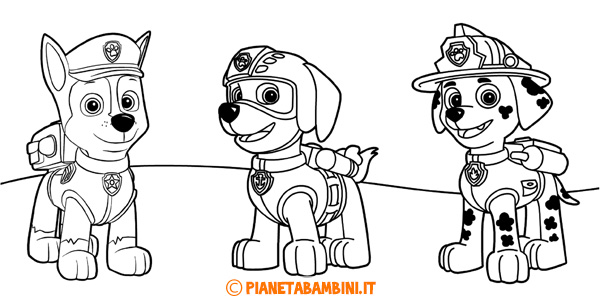 50 Disegni Di Paw Patrol Da Colorare Pianetabambini It