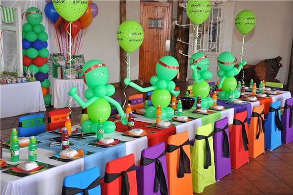 Idee per organizzare una festa a tema Tartarughe Ninja
