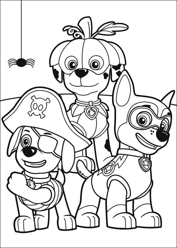 50 disegni di paw patrol da colorare for Fogli da colorare e stampare
