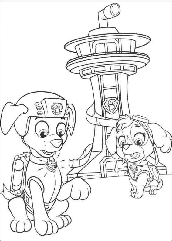 Disegni da colorare bambini blaze for Disegni da stampare paw patrol