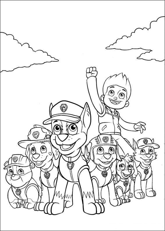 50 disegni di paw patrol da colorare  pianetabambiniit
