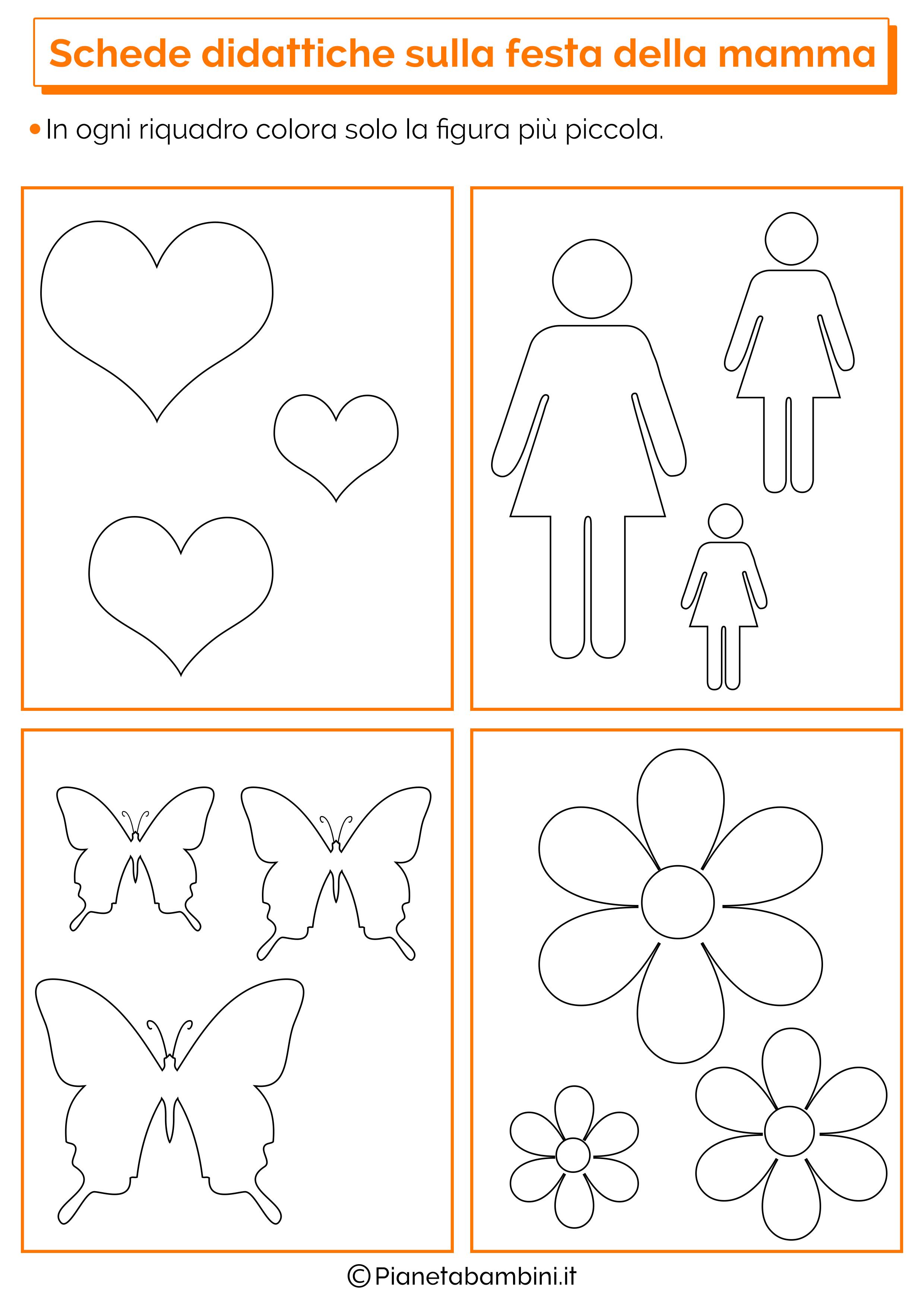 schede didattiche sulla festa della mamma per la scuola