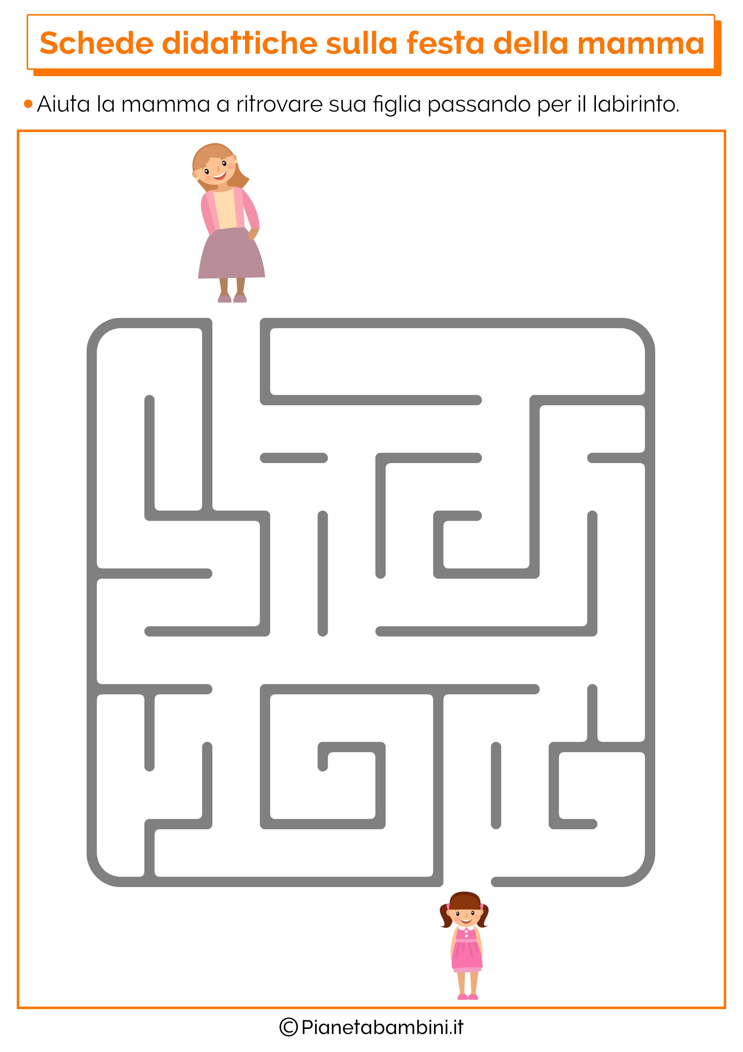 Scheda didattica sulla festa della mamma per la scuola dell'infanzia 9