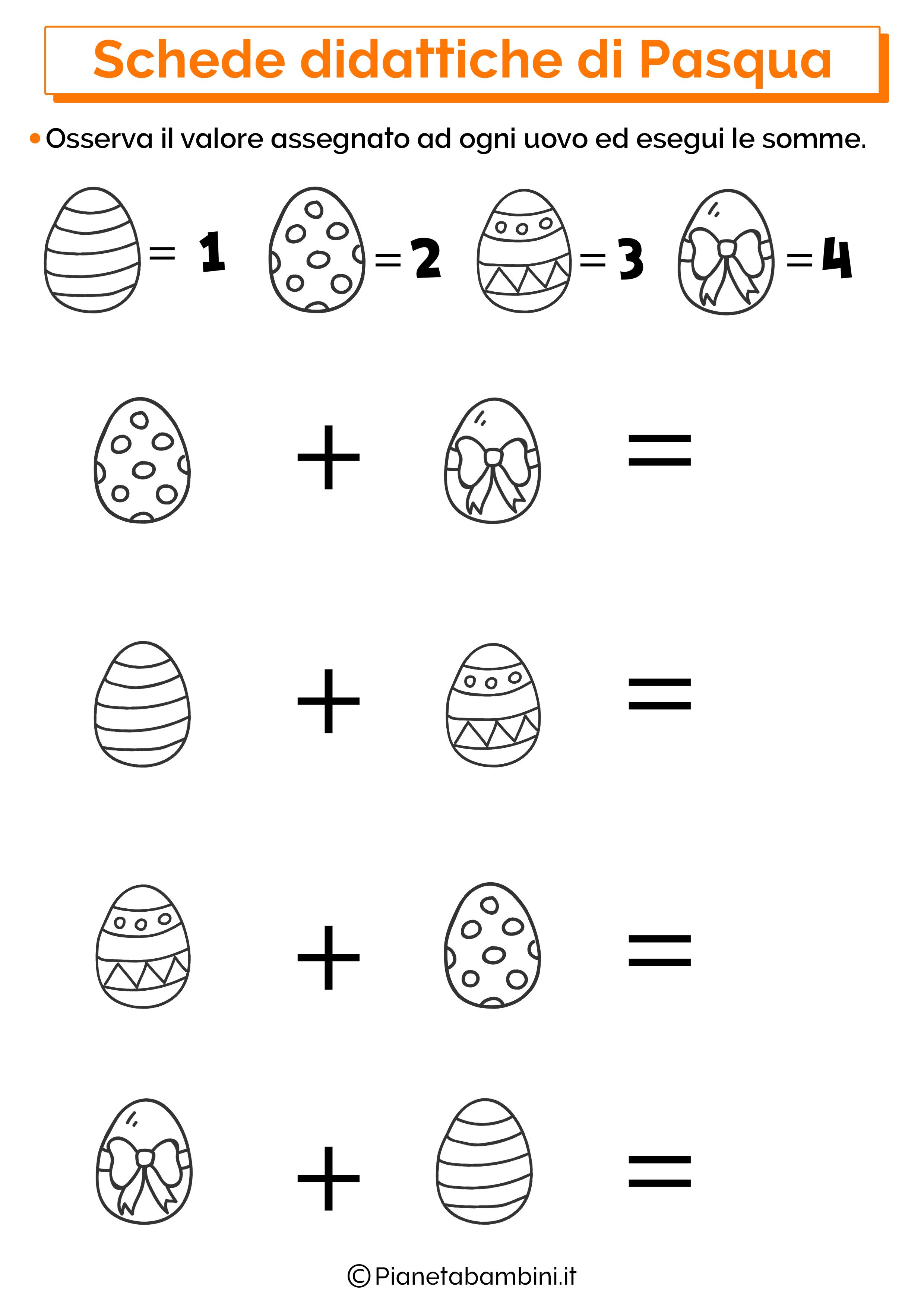 Scheda didattica sulla Pasqua per la scuola primaria 14