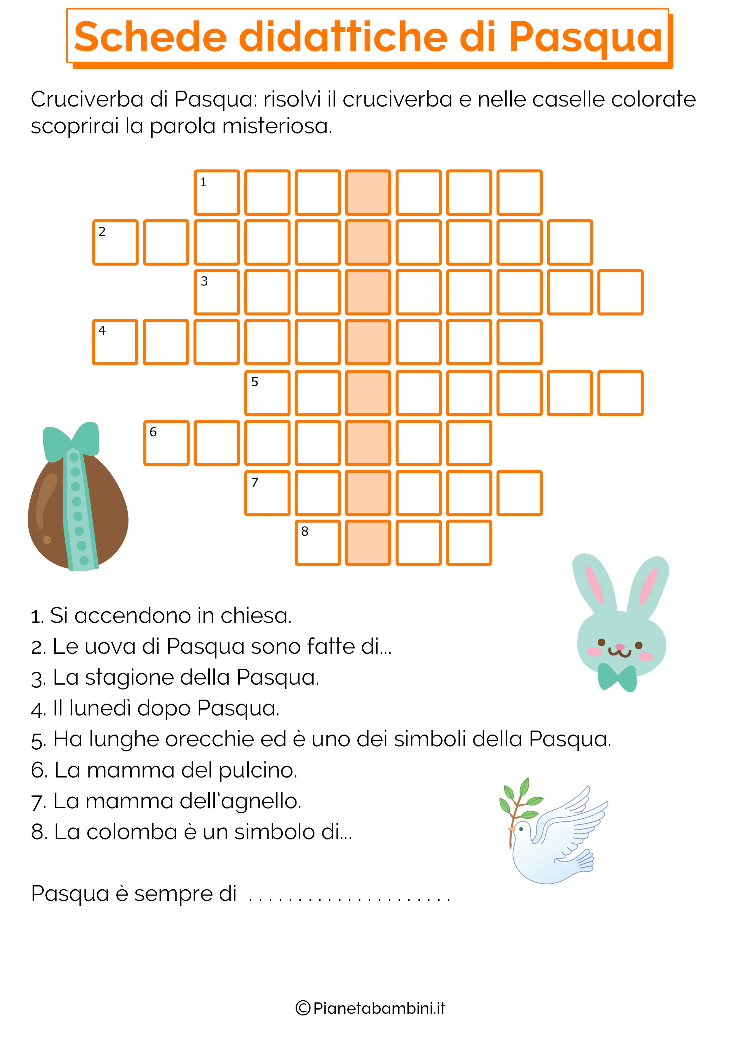 Scheda didattica sulla Pasqua per la scuola primaria 9
