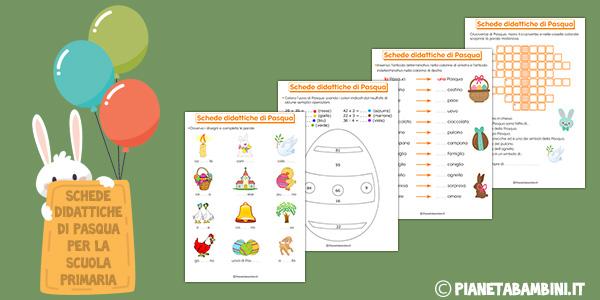 Schede didattiche di Pasqua da stampare gratis per la scuola primaria