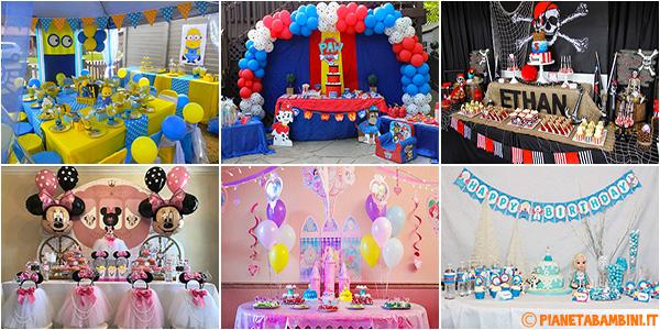 Idee per temi di feste di compleanno per bambini