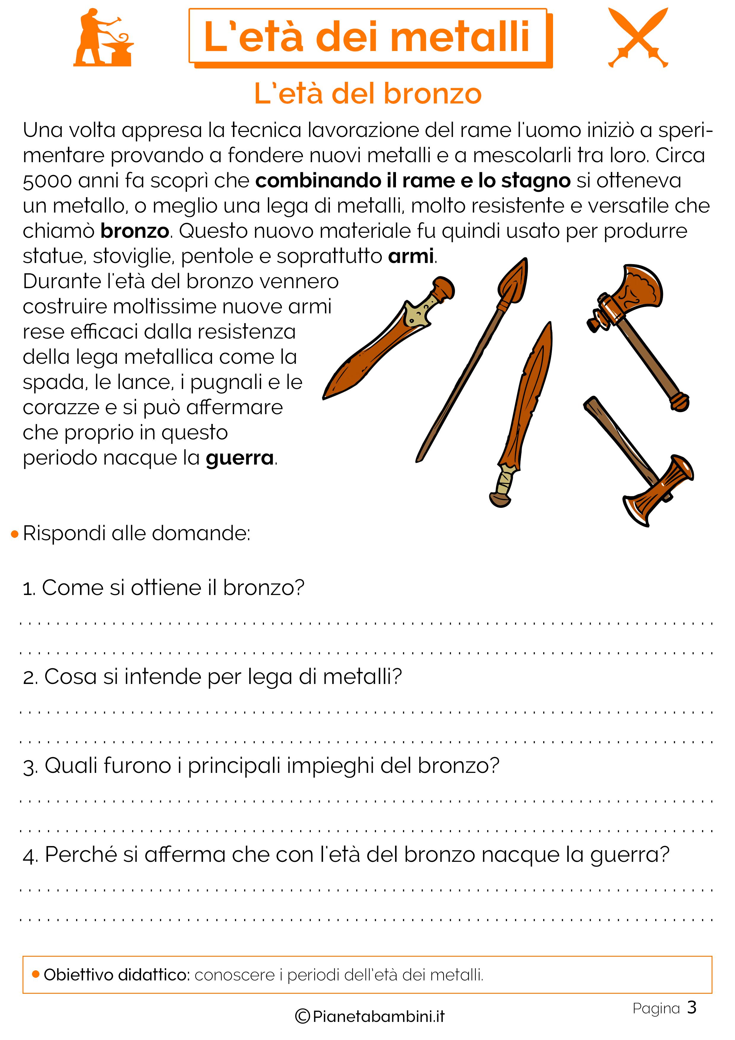 Schede didattiche sull'età dei metalli 03