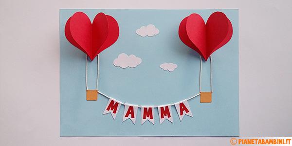 Come creare delle mongolfiere con cuori per la festa della mamma
