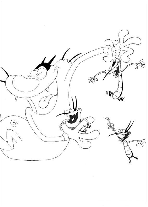 Disegni di quot oggy e i maledetti scarafaggi da colorare