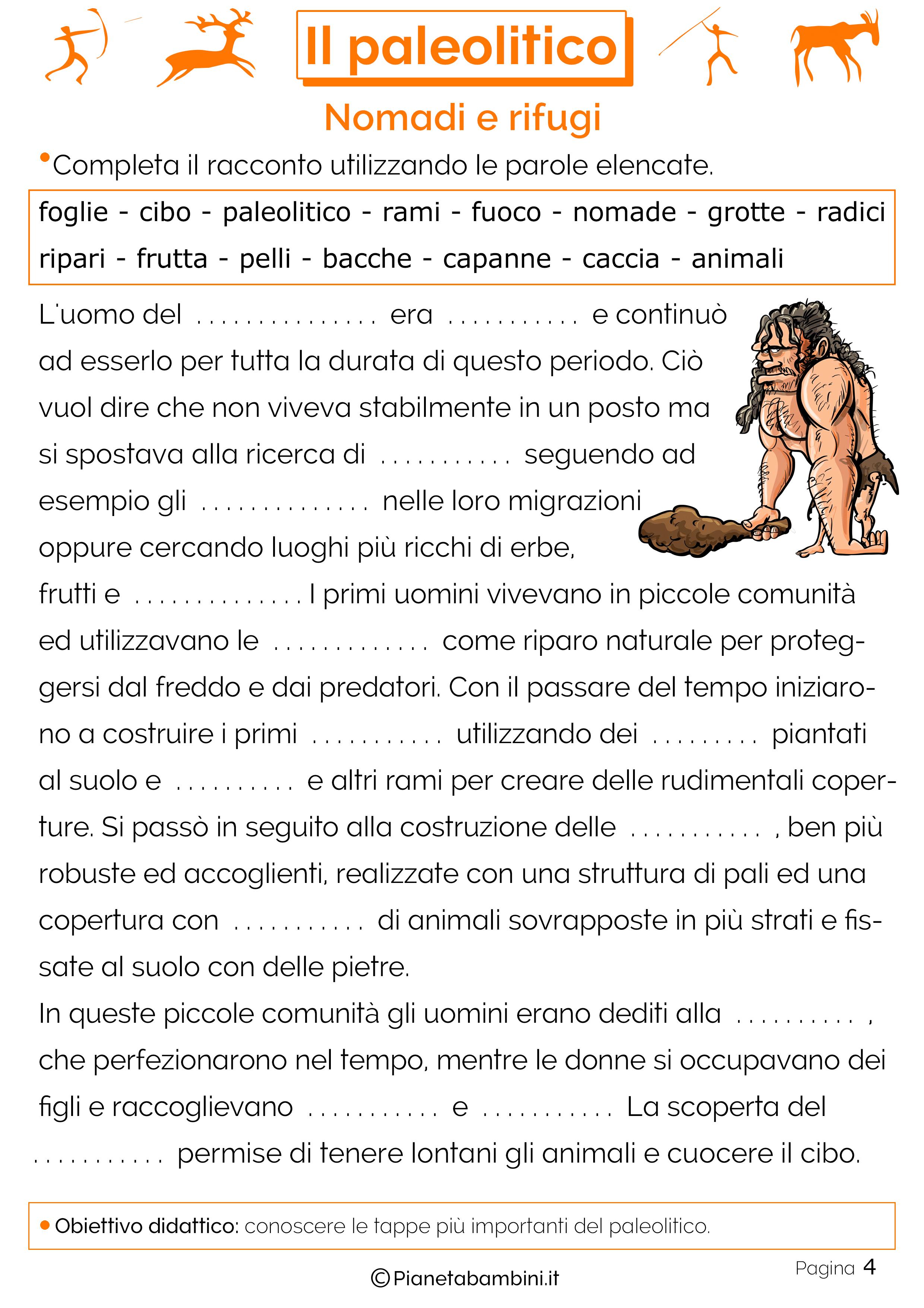Schede didattiche sul paleolitico 04