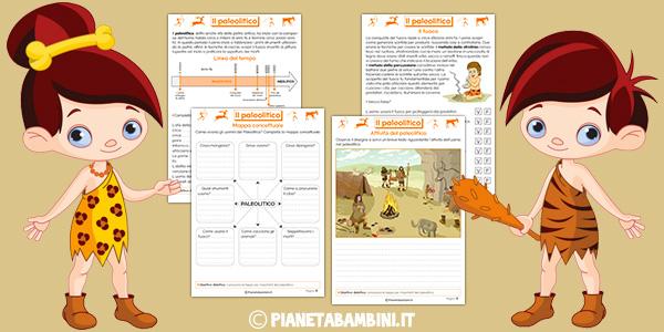 Esercizi sul paleolitico per la terza classe della scuola primaria da stampare gratis