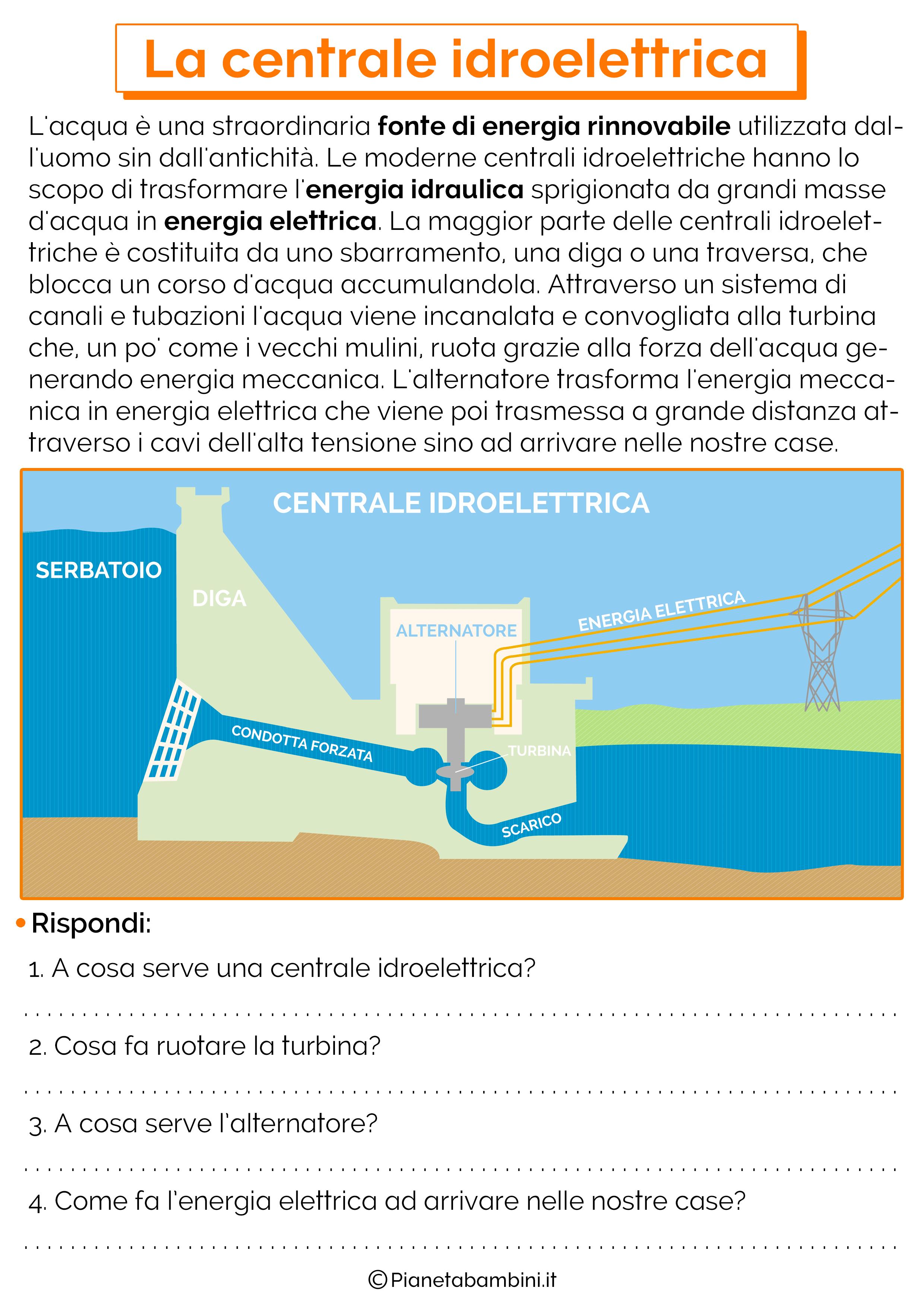 Esercizi sulla centrale idroelettrica