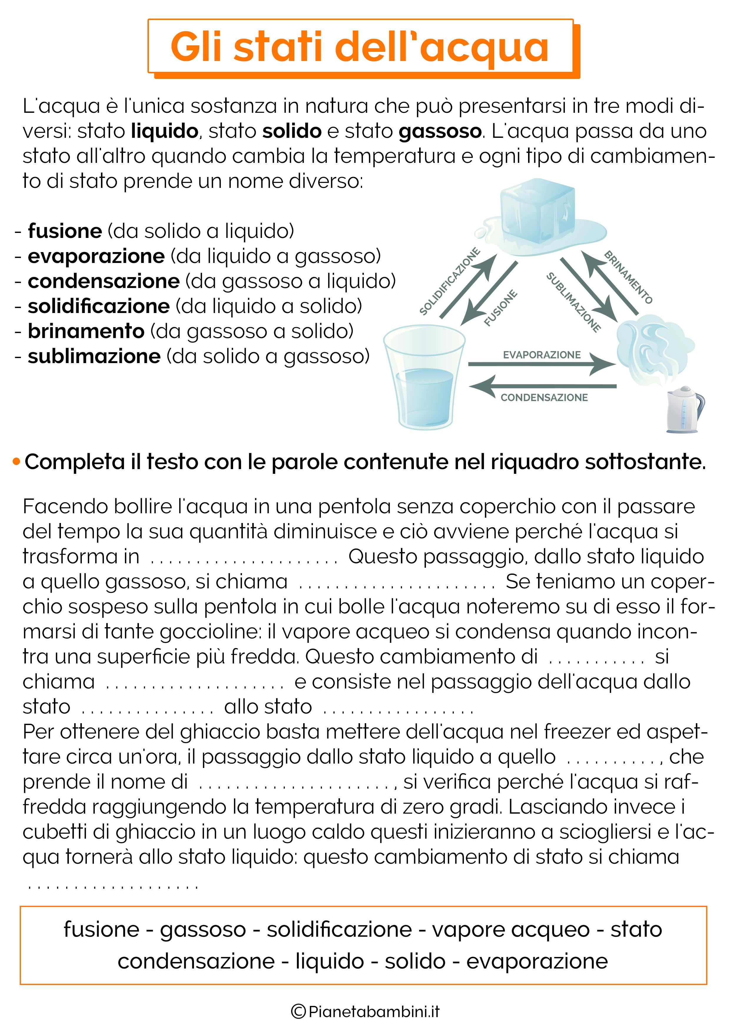 Estremamente L'Acqua: Schede Didattiche per la Scuola Primaria | PianetaBambini.it DF65