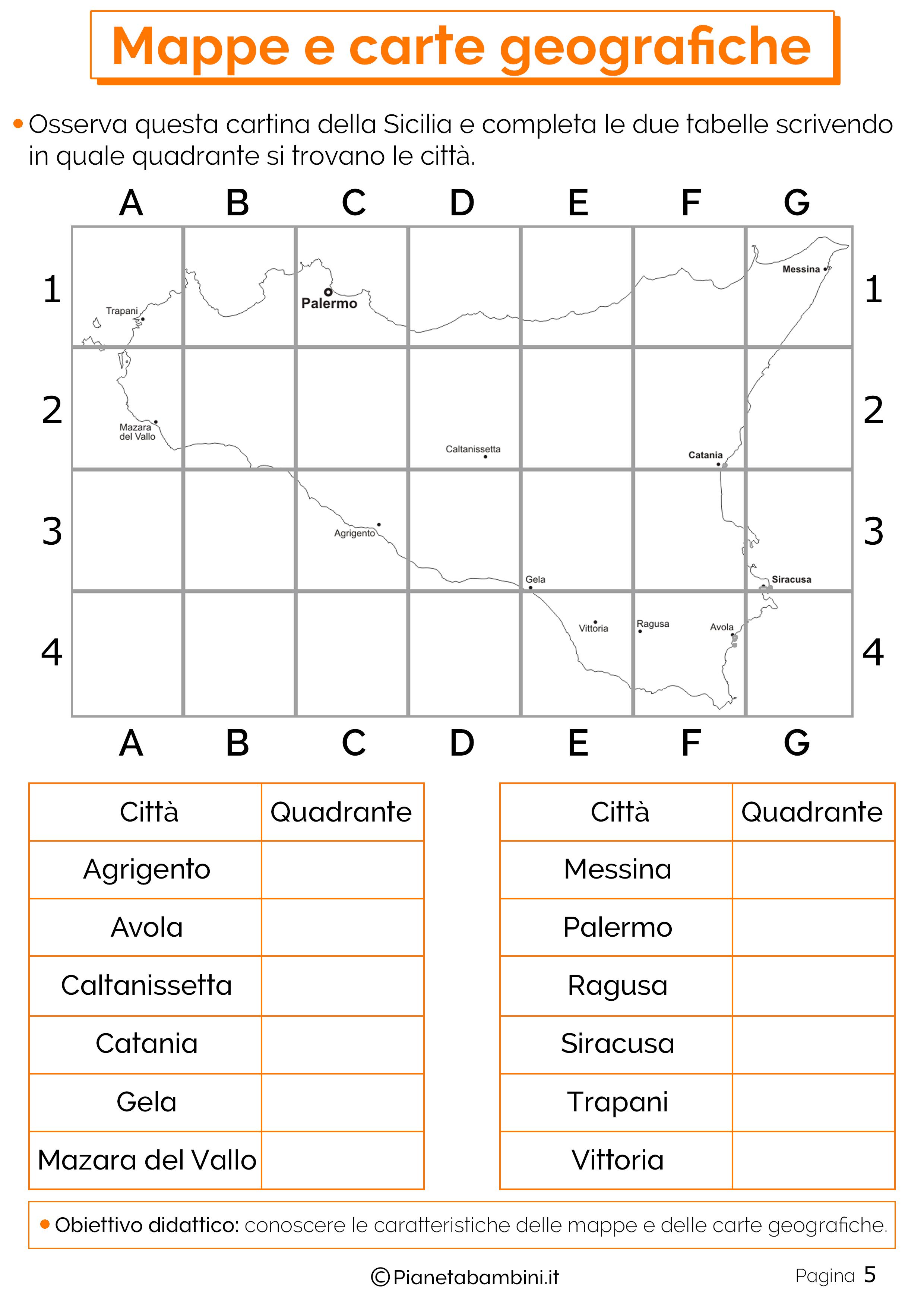 Mappe E Carte Geografiche Schede Didattiche Per La Scuola Primaria