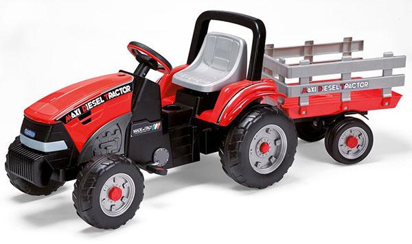 Trattore a pedali Peg Perego Maxi Diesel con rimorchio per bambini