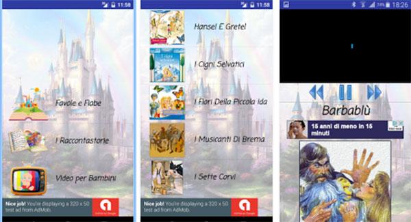 App Favole e Fiabe sonore per ascoltare fiabe per bambini