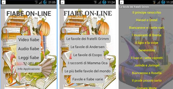 App Fiabe Online per ascoltare fiabe per bambini