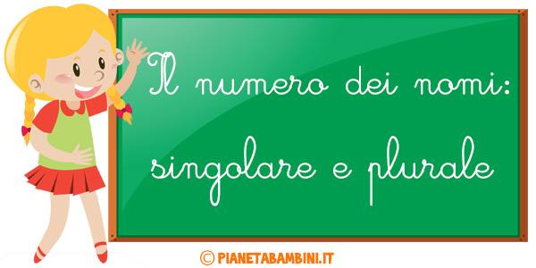 Esercizi sui nomi singolari e plurali per la scuola primaria da stampare gratis