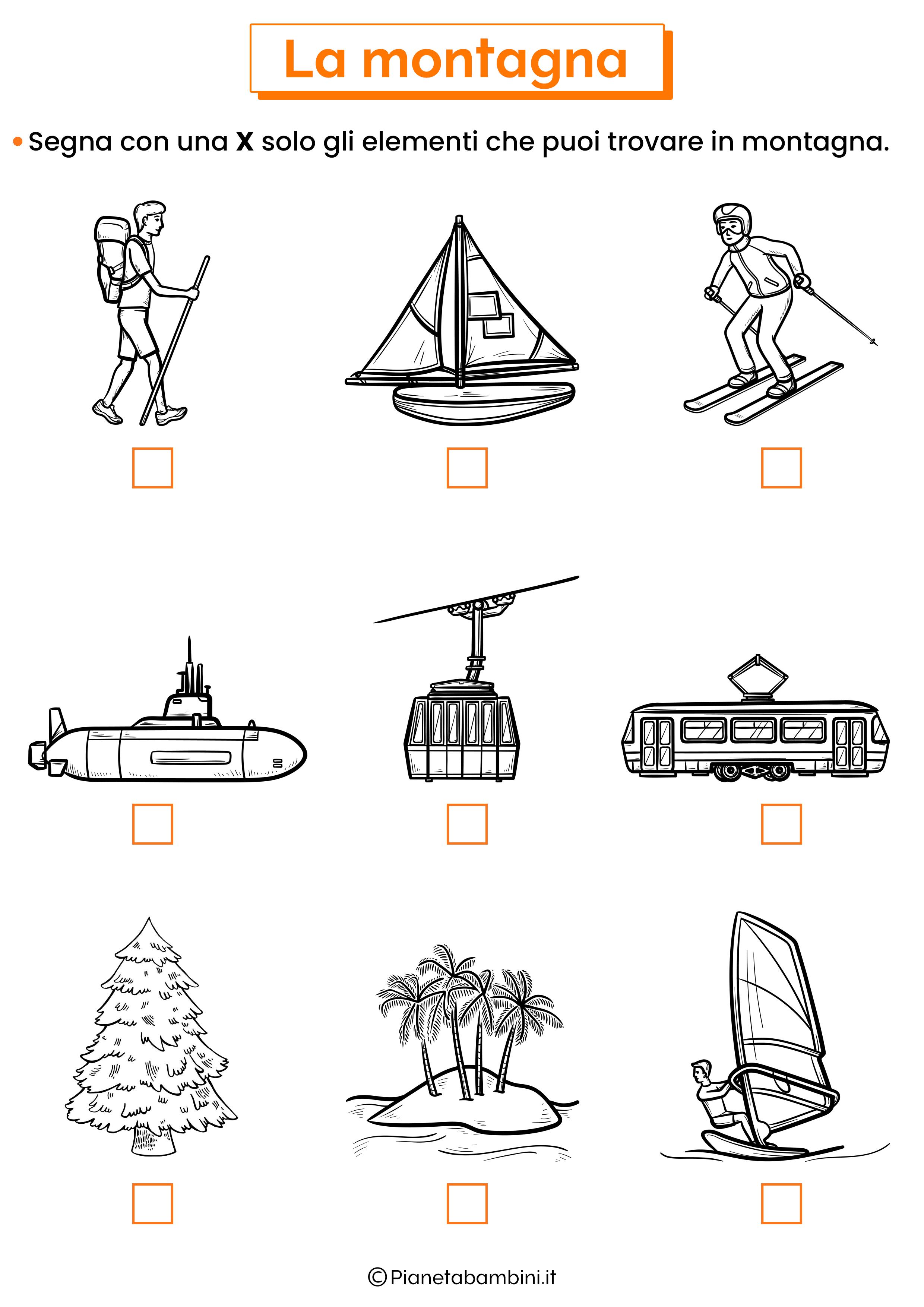 Elementi della montagna