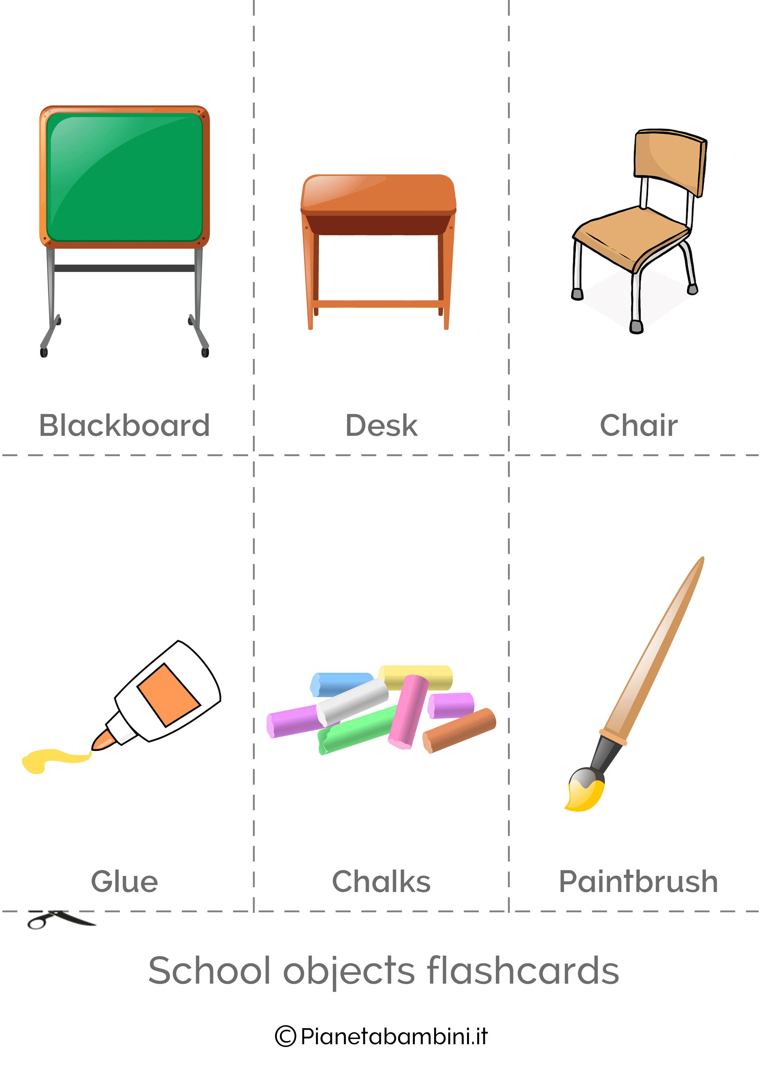 Flashcard degli oggetti in inglese 4