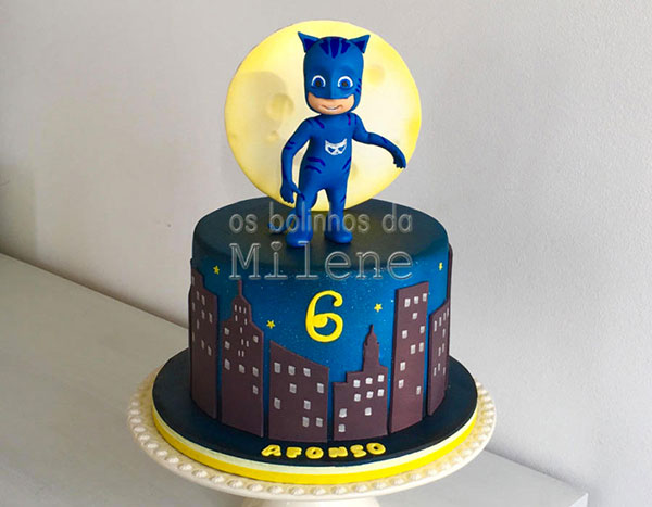 35 torte dei pj masks super pigiamini in pasta di zucchero On decorazioni torta super pigiamini