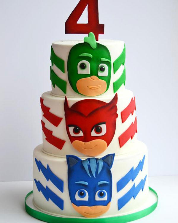 35 Torte Dei Pj Masks Super Pigiamini In Pasta Di Zucchero Pdz